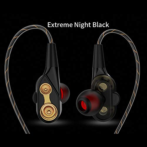Corneliaa-DE Kabelgebundene CK8-Dual-Driver-Ohrhörer Dual-Dynamic Flexible Cable Speaker -