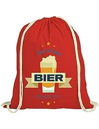ShirtStreet Bier Kostüm Turnbeutel für Bierfreunde Fasching Karneval