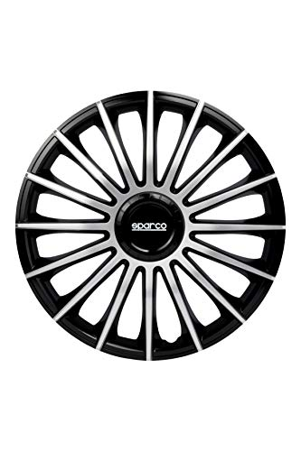 Sparco SPC1693BKSV Copricerchi, Argento, 16', Set di 4