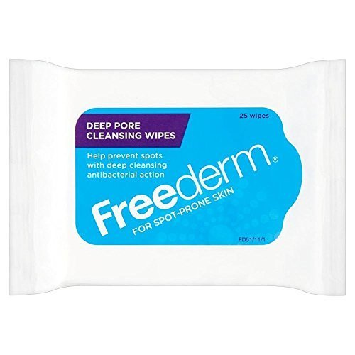 Pore Cleansing Wipes (Freederm Deep Pore Cleansing Wipes (25) - Pack of 2 by Freederm)