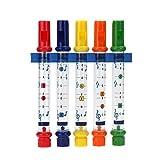 Los niños de Colores para niños Flautas de Agua Musical Divertido Juguete de baño de hidromasaje Contiene Hojas melodías de la canción