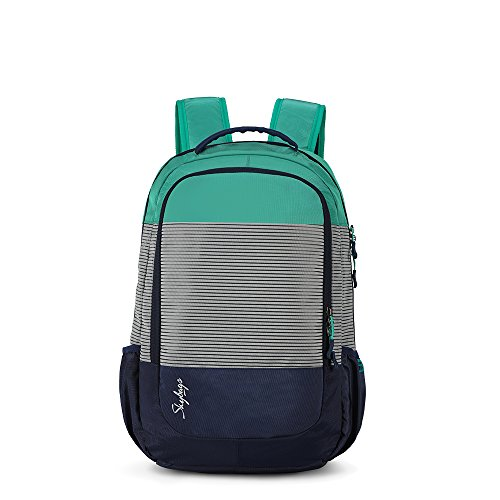 Skybags Zia 47 Ltrs Green Nylon Laptop Backpack (SBZIA01GRN)