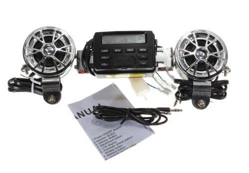 Motorrad / ATV 12V FM Radio MP3 IPOD Stereo Lautsprecher Musik Song Spieler für UTV Quad Boot Zubehör Gang Teile Komponenten Produkte Ausrüstung Werkzeuge (Polaris Utv Teile)