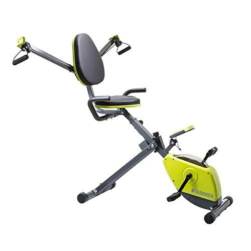 HAMMER Premium X-Bike Heimtrainer Wonderbike – Über 40 Übungsmöglichkeiten – Ausdauertraining – Krafttraining – Kabelzug – Trainingscomputer – Ergometer – Fahrrad Trainer – Fitness-Bike