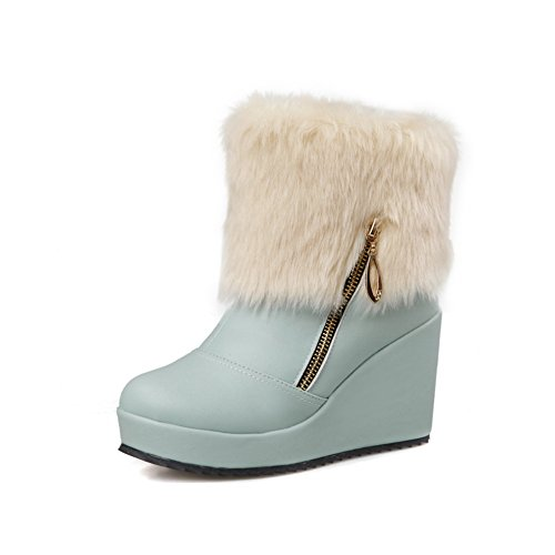 1to9-ladies-romanesque-style-color-matching-thick-bottom-heel-zipper-blue-imitated-leather-boots-45-