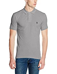 Ralph Lauren Small Logo Shirt, Polo Homme, Grey (Andover Heather), M