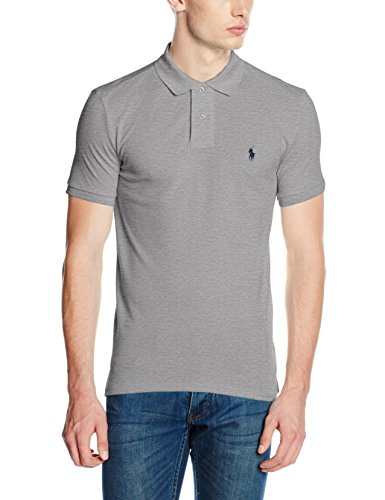 Polo Ralph Lauren Herren Hemden Small Logo Shirt Grey (Andover Heather)