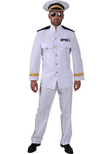 pitän Marine Steward Kostüm in Theaterqualität (S) (Steward Kostüm)
