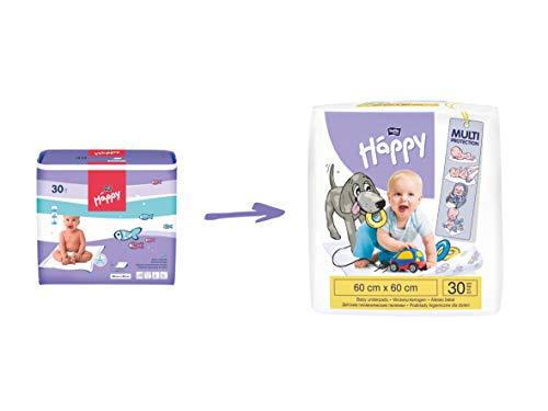 Bella Baby Happy Wickelunterlagen 60 x 60 cm, 2er Pack (2 x 30 Stück) - 3