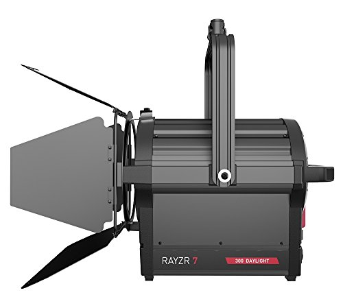 ILED-H Rayzr 7 300W Daylight Fresnel LED Head with 4 Leaf Barndoor and Carrying Case