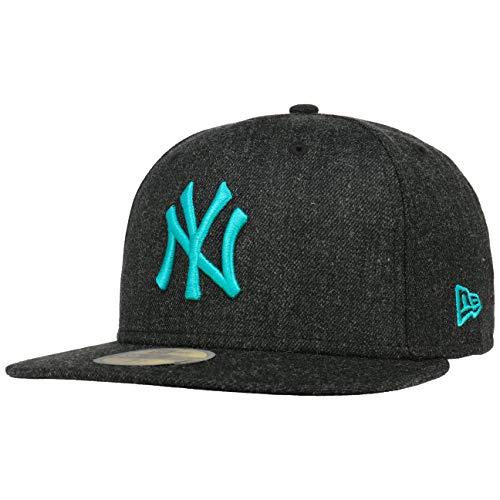 New Era York Yankees Black Base Black Teal Blue 59fifty 5950 Fitted Cap Mens Kappe