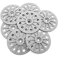 60mm 30% renforcé en fibre de verre Rondelles de fixation pour planches à isolation rigide, gris moyen, blanc