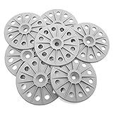 300 pcs 60 mm 30% renforcé en fibre de verre Rondelles de fixation pour planches à isolation rigide, gris moyen, blanc