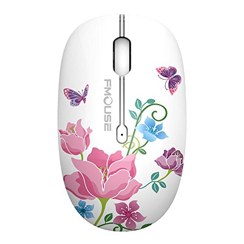 TENMOS M101 Wireless Maus, PC Kabellose Mouse Cute Silent Schnurlos Optische Travel Wireless Mäuse mit USB Receiver für Notebook/Laptop/Computer/MacBook, DPI 1600