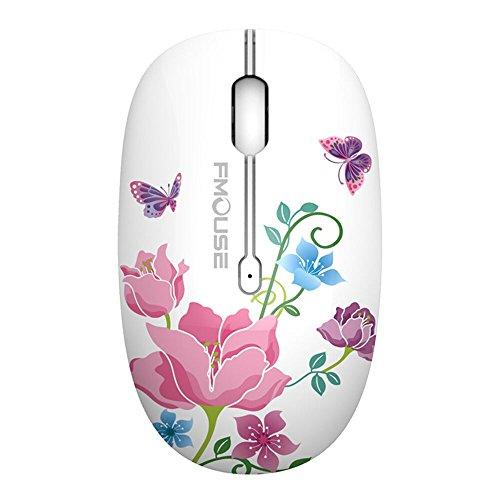 TENMOS M101 Wireless Maus, PC Kabellose Mouse Cute Silent Schnurlos Optische Travel Wireless Mäuse mit USB Receiver für...