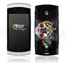 Sony Ericsson Vivaz Pro Autocollant Protection Film Design Sticker Skin Carlin Roi Langue Chien Roses