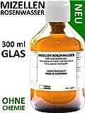 300 ml MIZELLEN ROSENWASSER ROSEN MIZELLENWASSER All-in-1 Make-up Entferner 100% naturrein OHNE CHEMIE Seife Konservierungsstoffe Parabene Silikone Mineralöle Duftstoffe Farbstoffe alkohol-frei