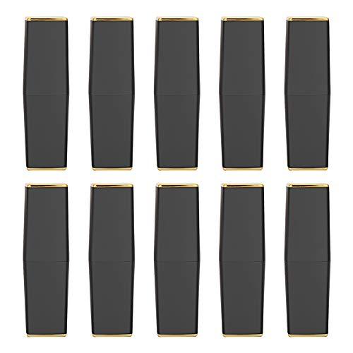 Leerer Lippenstift-Schlauch, schwarze DIY leere Lippenstift-Behälter handgemachte Lippenstift-Form-Lippenbalsam-Rohre(Matte Magnetverschluss Tube 02#) -