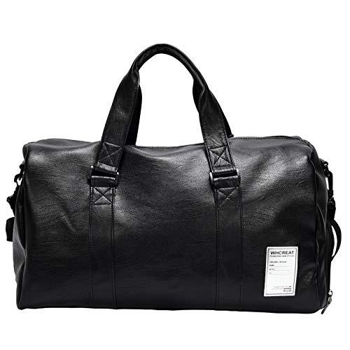 WHCREAT Stilvolle Kunstleder Reisetasche, Reise Über Nacht Weekender Wochenende Geschäftsreise Große Gepäck Duffle Tasche mit Schuhfach -