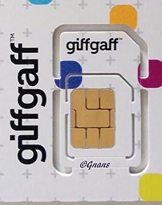Oficial GiffGaff-Multi 3G/4G SIM-precargado con £5crédito + adaptador-llamadas ilimitadas, textos y datos-para iPhone 4/4S/5/5C/5S/6/6S/6+ iPad 1/2/3/4/5Air/2/5Galaxy S1/S2/S3/S4/S5/S6/S6-Edge/S7/s7-edge, LG teléfonos, HTC teléfonos, Sony/Sony Xperia teléfonos-> móviles Dirige las comunicaciones Ltd