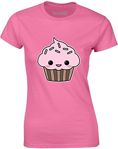 Brand88 - Cute Cupcake, Gedruckt Frauen T-Shirt Azalee