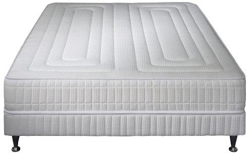 Simmons - Ensemble Matelas Excellence Confort + Sommier + Pieds - Blanc - 160 X 200 Cm