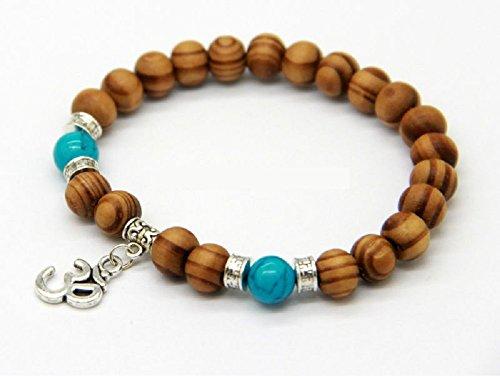 Zoom IMG-1 om braccialetto di perline legno