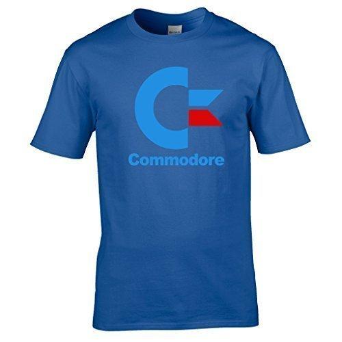 Naughtees bekleidung - Commodore logo T-shirt von dem frühe tagen von home Das berechnen. Geek chic Königsblau