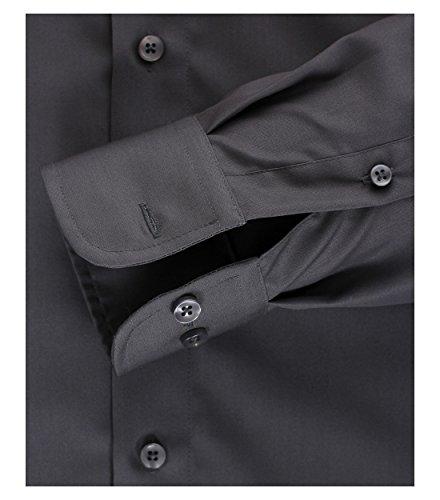 Casa Moda–comfort Fit–Cinghia Tracolla libero uomo Business camicia a maniche lunghe diversi colori (006050) Anthrazit (750)