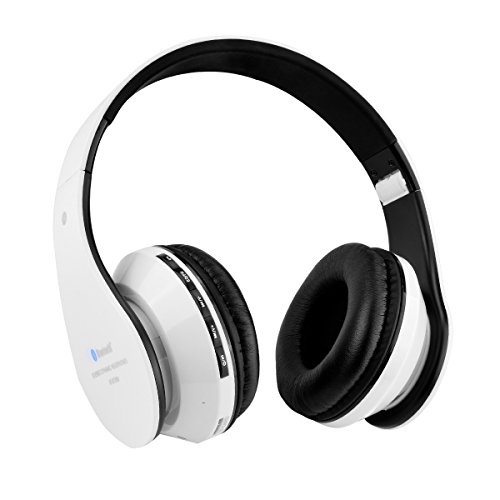 Cuffie bluetooth senza fili Aita BT809 stereo headphone cuffie Thor Pieghevole Auricolari Wireless 4.1 Over-Testa con Microfono per Iphone,Android e computer(Nero-bianco)