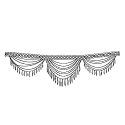 Young & Forever Tribal Muse Collection RED CARPET Celebrity Inspired The Morrison Cascading Chain Silver Charms Belt Metal Belt For Women by CrazeeMania (B25042)