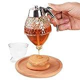 Dispenser di sciroppo di miele, Dispenser di miele acrilico Bollitore Bottiglia di spremitura Supporto per vaso di stoccaggio acrilico Dispenser di succo di miele Materiale per uso alimentare