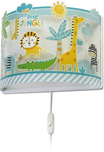 Dalber My Little Jungle kinder wandlampe, Kunststoff, 60 W, bunt