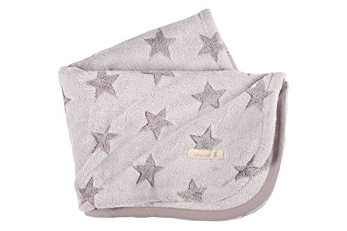 LOTTAS LABLE 25000-4 Fleecedecke Sterne grau/grau