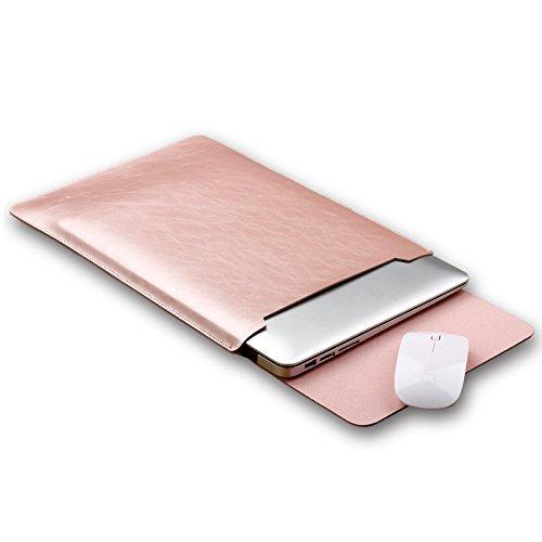 i-Buy Résistant à l'eau Microfibre PU cuir Laptop Sleeve Pochette Sacoche Housse pourr Macbook Air et MacBook Pro / MacBook Pro Retina 13.3 - Rose Gol...