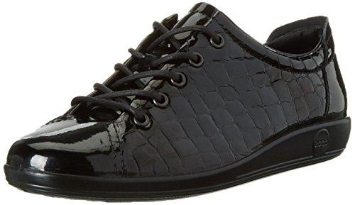 Soft Comfort Schuhe (Ecco Damen Soft 2.0 Derby, Schwarz (BLACK51052), 39 EU)