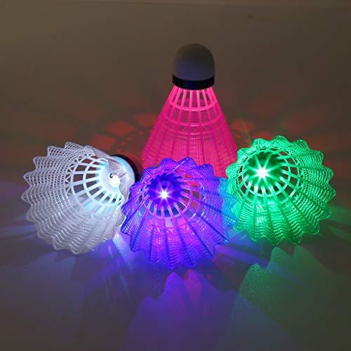 Cansenty LED-Badminton-LED-Beleuchtung, bunt, 4 Stück