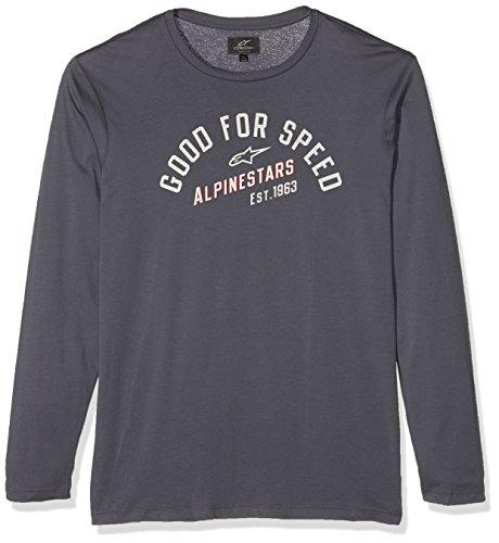 Alpinestars Herren Long Sleeves Shirt UPSHIFT LS Knit Men's, Charcoal, XL (Long Sleeve Shirt Alpinestars)