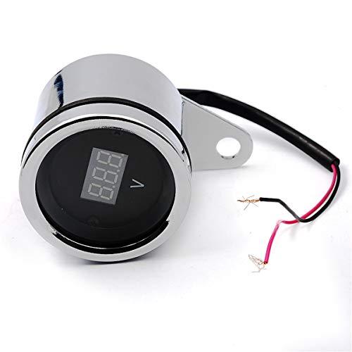 YuLinStyle 12V Motorrad geändert Meter Voltmeter, Roller Digital LCD Display Spannung, Retro Meter Voltmeter