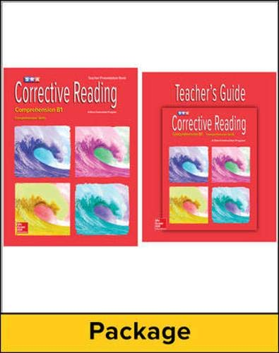 Corrective Reading Comprehension B1: Teacher Materials Package (CORRECTIVE READING DECODING SERIES)