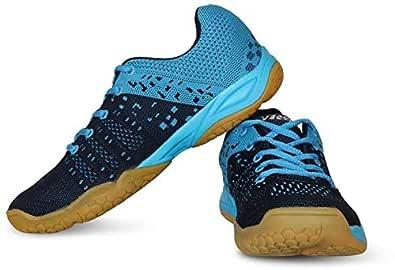 Vector X CS-2030 Men's Polyester Navy Blue Badminton/Tennis Court Shoes (UK5)