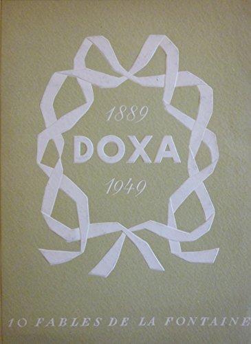 Doxa 1889-1949 : Dix fables de La Fontaine. Brochure publicitaire de l'horloger Doxa avec 6 planches photographiques hors texte en couleurs des montres
