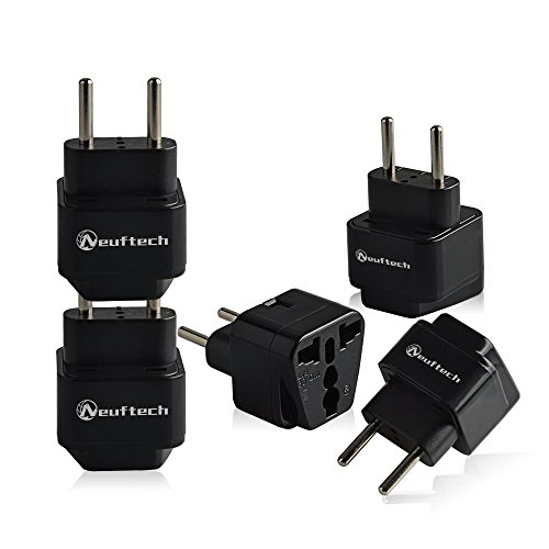 Neuftech 5x Universal Reisestecker Adapter Travel Plug EU Stecker europa Deutschland auf UK USA,China,Kanada,Japan,Thailand,Mexiko,Philippinen -