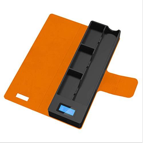 Lv Kit (Diadia Tragbares Ladegerät für Juul-Geräte mit LCD-Anzeige, Ladeanzeige für Juul-Geräte, Orange)