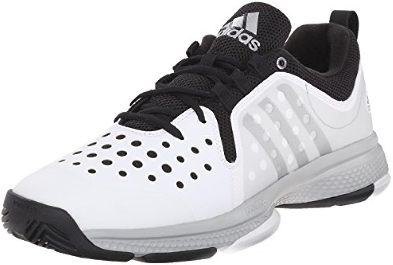 Adidas Performance Barricade classico rimbalzo M Wid Scarpe da tennis, bianco   argentoo metallizzato | Vinto altamente stimato e ampiamente fidato in patria e all'estero  | Scolaro/Ragazze Scarpa
