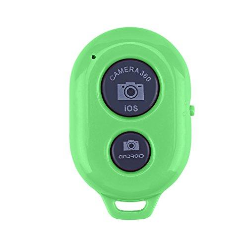 Riuty Bluetooth-Auslöser, 60 m Fernabstand Bluetooth-Fernbedienung Monopod-Auslöser für iPhone/iPod/iPad/Xiaomi/Sony und andere Smartphones über Android 4.1(Grün) Android 4.1 Smartphone