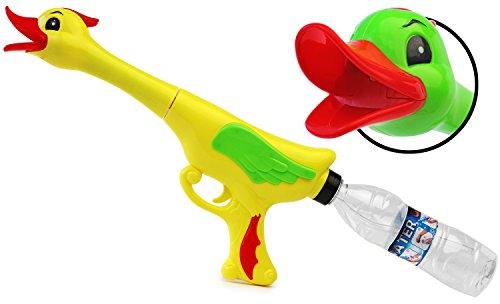 Crazy Enten Wasser-Gewehr PET Wasser-Pistole Duck Kinder-Spielzeug Gelb Grün Wasser-Spritze Sommer-Spielzeug Spielzeug-Pistole Wasser-Gewehr Aqua-Gun Pool-Kanone Planschbecken-Pistole Garten-Party Spielzeug-Waffe Swimming-Pool-Gun