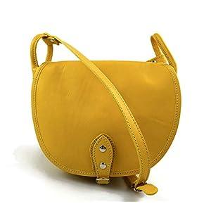 Damen leder tasche gürteltasche hüfttasche umhängetasche schultertasche tragetasche ledertasche damen leder made in Italy gelb