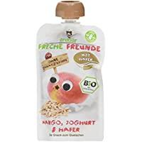 "Freche Freunde Bio Quetschie ""Mango, Joghurt & Hafer"", 6er Pack (6 x 100 g)"