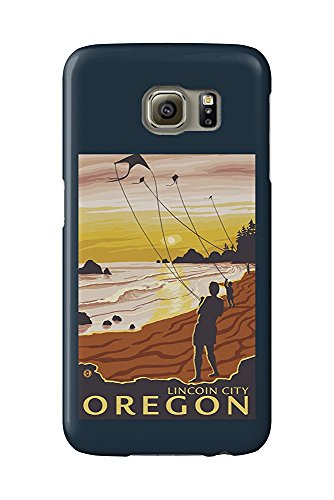 Beach and Kites - Lincoln City, Oregon (Galaxy S6 Cell Phone Case, Slim Barely There)